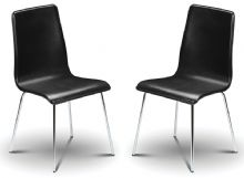 Pair of Madison Black Faux Leather Dining Chairs